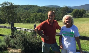 Farmers Peter and Meg Nielsen at their property outside Lismore, oppose CSG in the NSW northern rivers.