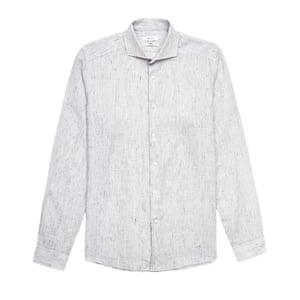 light grey flecked shirt Reiss