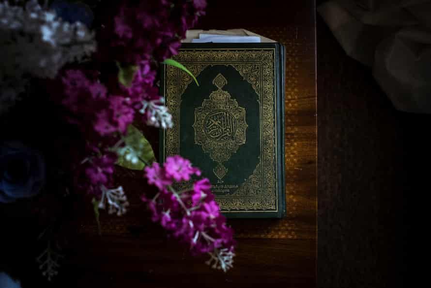 A copy of the Koran as seen at the home of Awatif Taha
