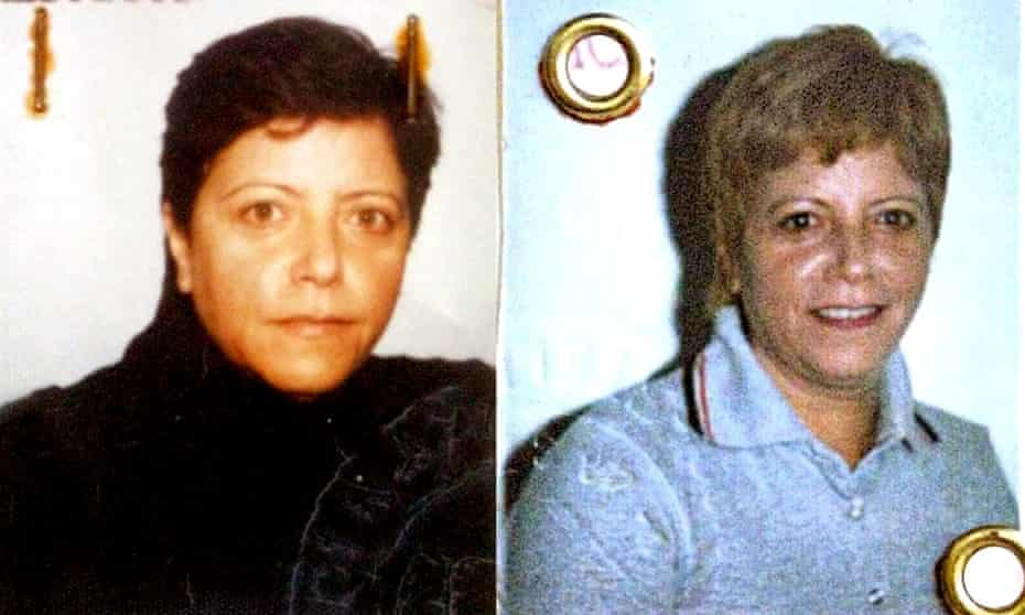 Police file photos of Maria Licciardi from 20 years ago.