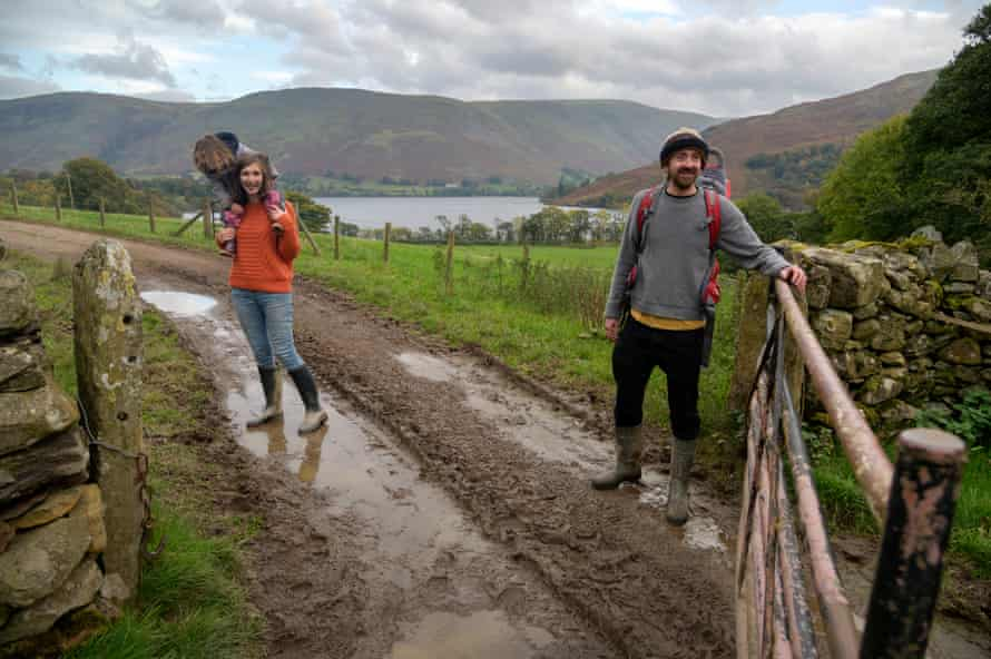 Sam and Claire Beaumont at their farm close to Ullswater.