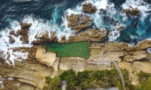 Bermagui's Blue Pool is at the bottom of a cliff and is reached by steep steps