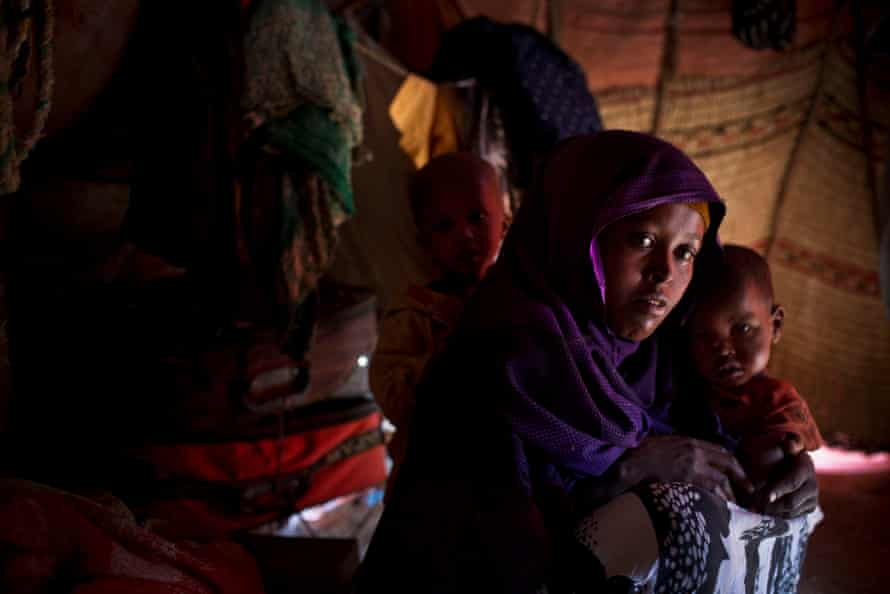 Sara Fara Mohamud's two young children are suffering from flu and diarrhoea