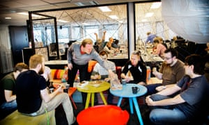 Staff at Spotify's offices in Stockholm, Sweden.