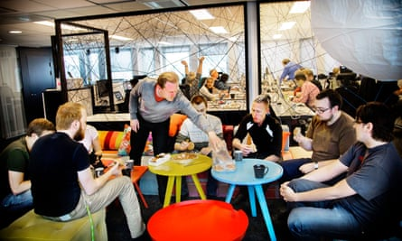 The Spotify office in Stockholm, Sweden. The site is one of the few dominant platforms to have emerged from Europe.