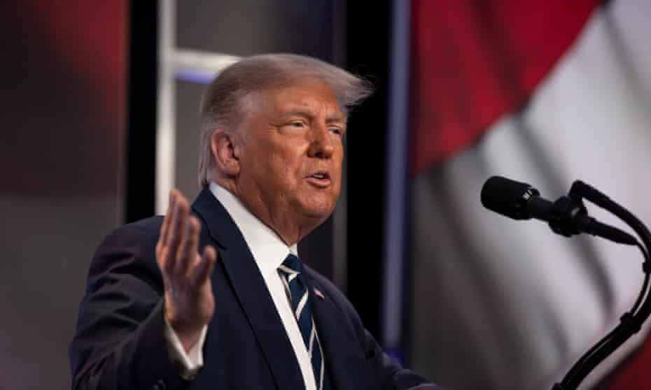 Trump in Virginia on Friday.The Trump campaign is suing to block the widespread use of official ballot dropboxes in Pennsylvania.