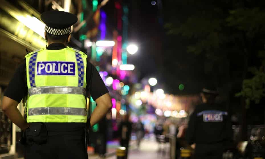 Police officers in Manchester