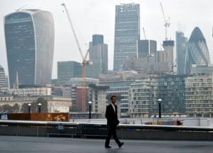 London's financial district.