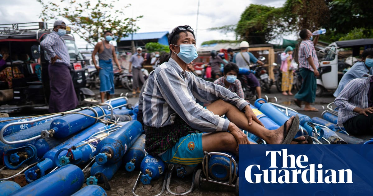 Battle for oxygen as coup-hit Myanmar faces its most severe Covid outbreak