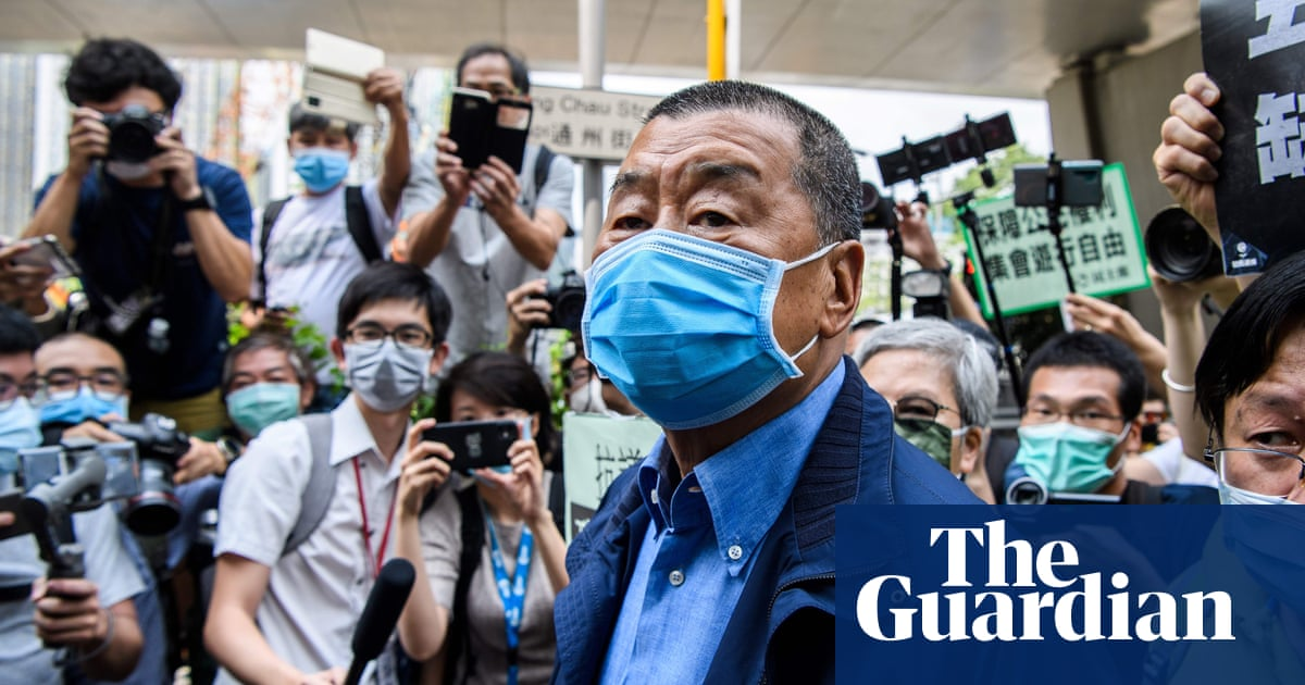 Hong Kong media tycoon Jimmy Lai arrested over alleged foreign collusion - the guardian