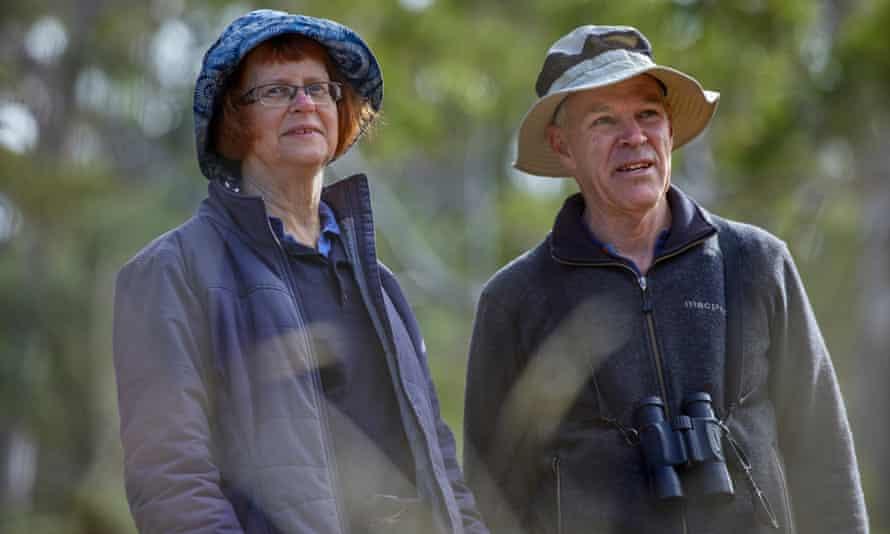 Bruce and Ann McGregor on their tour of Tasmania.