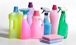 Spring cleaning products.