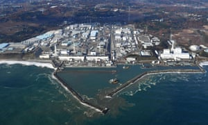 An aerial view of Fukushima Dai-ichi nuclear power plant in Okuma, which remains mostly-off-limits.