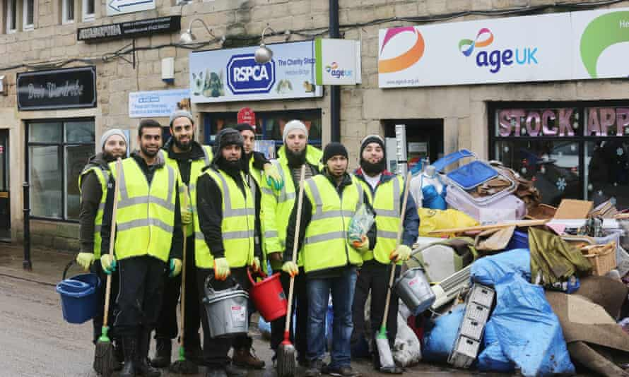 Volunteers from Rossendale Unity Welfare Society in Hebden Bridge