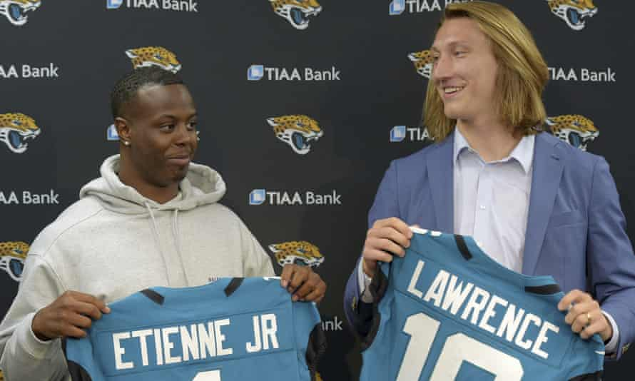 Travis Etienne and Trevor Lawrence