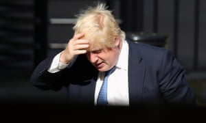 The foreign secretary, Boris Johnson, at the Foreign Office