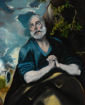 The Tears of St Peter by El Greco, Domenikos Theotokopoulos (1541-1614).