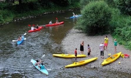 River Lesse in the Belgian Ardennes, Belgium