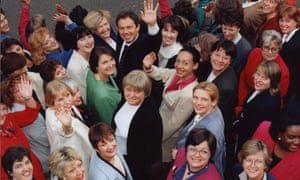 Tony Blair surrounded by some of the 101 women Labour MPs elected in 1997