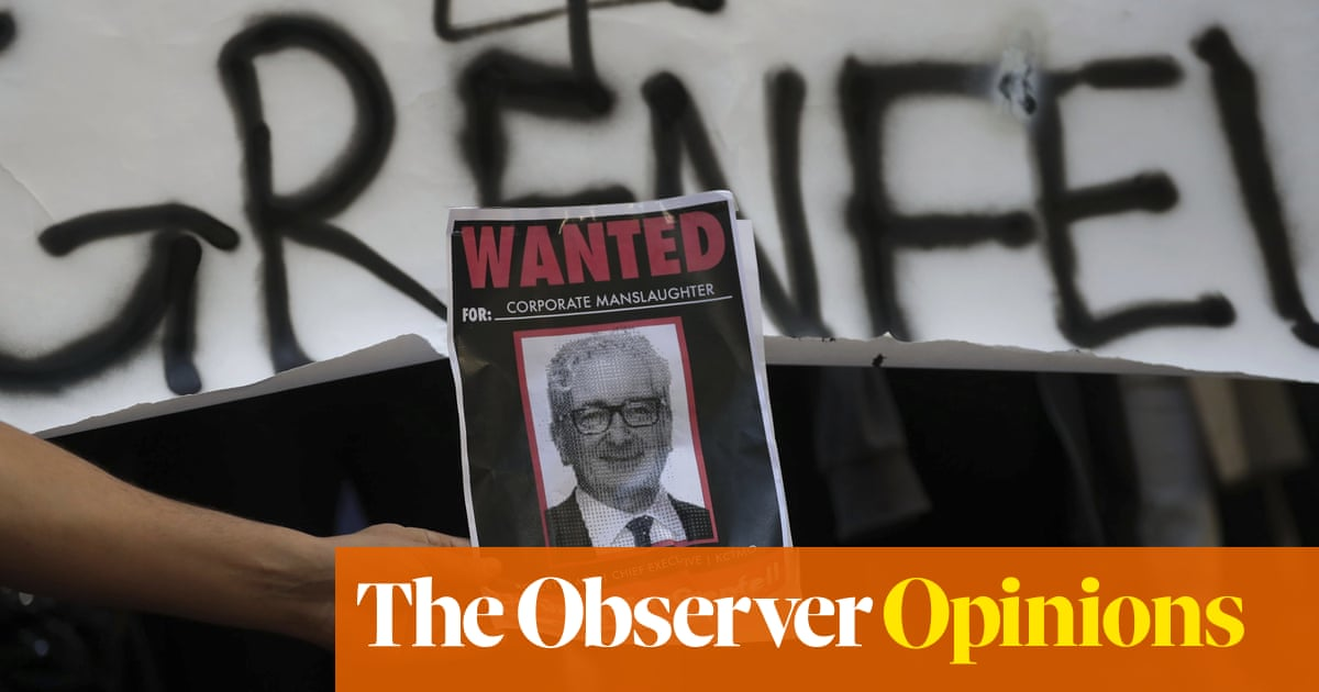 From Grenfell Tower to the Met police, shirking responsibility has become endemic