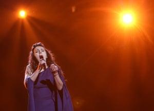 Singer Jamala representing Ukraine performs '1944'