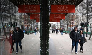 Oxford Street in London, Britain, on Boxing Day.