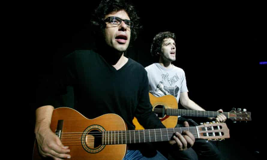 Maestros of every style … Jemaine Clement, left, and Bret McKenzie at the Edinburgh fringe in 2004.