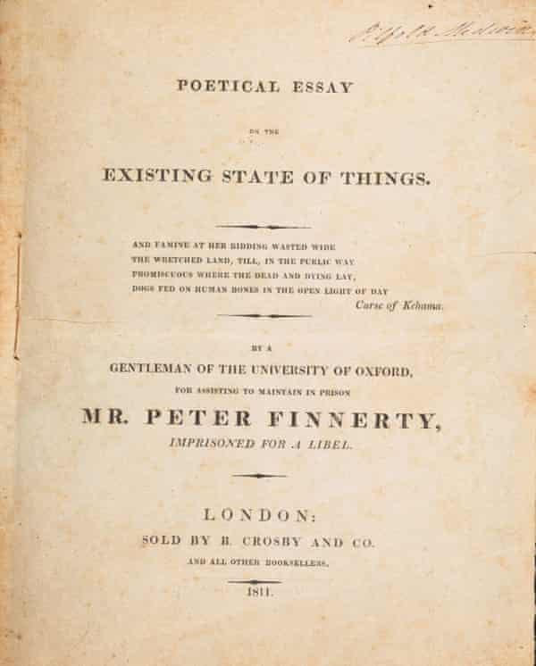 The Bodleian Library's copy of The Poetical Essay on the Existing State of Things.
