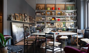'I feel privileged to be living in this terrific place': the eclectic open-plan living area.