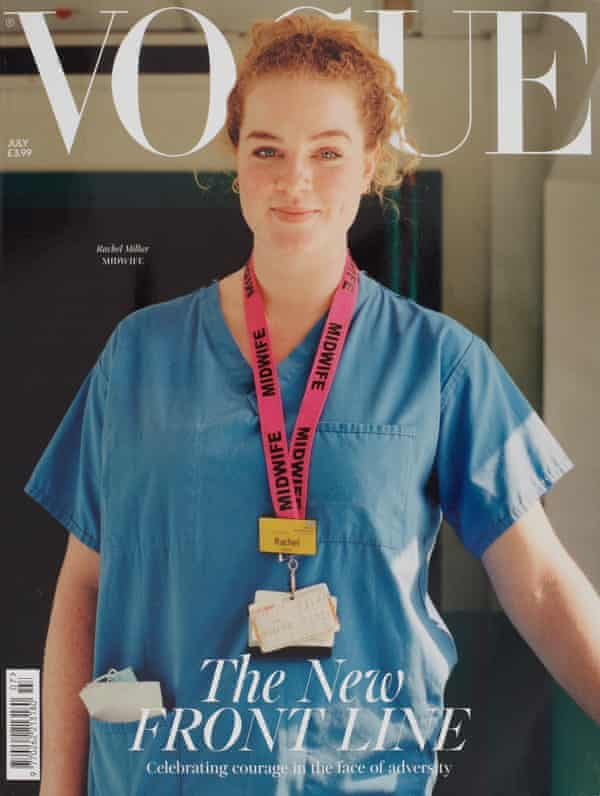 Changing design ... a Vogue UK cover featuring a key worker.
