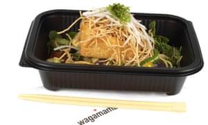 a tofu salad at Wagamama