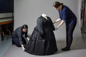 The mourning outfit made for Queen Victoria immediately after the death of her grandson Prince 'Eddy'.