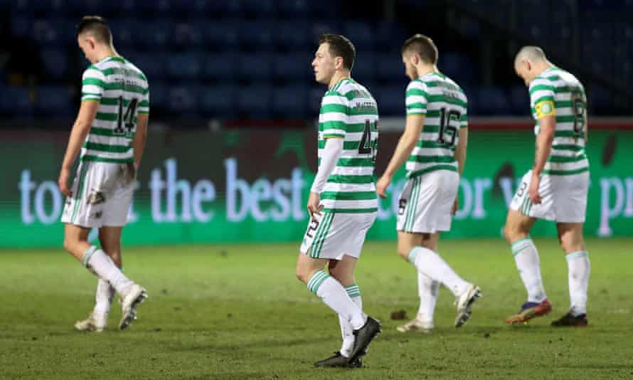 Celtic players reflect on their defeat by Ross County in Neil Lennon's final match as manager.