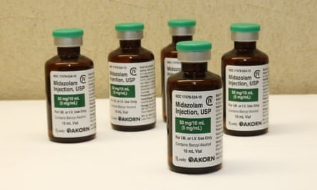 bottles of the sedative midazolam