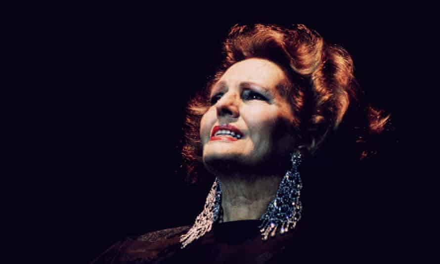 Amália Rodrigues during one of her last concerts in 1990 in Lisbon