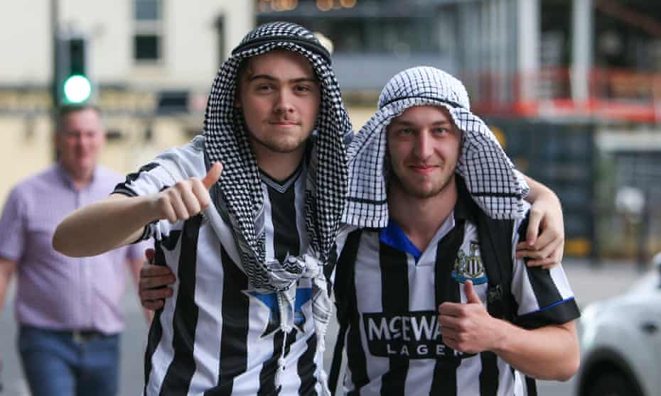 'Newcastle United fans reacted in the same way as any other fans would have reacted if there was to be a sudden injection of money into their club.'