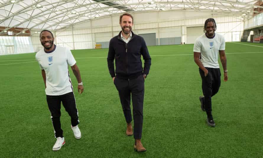 Konan, Gareth Southgate, and Krept at St George's Park