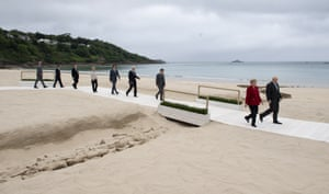 G7 leaders at their summit at Carbis Bay earlier this month.