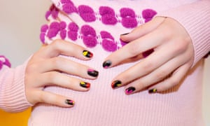 Top tips: bright fingernails at the Novis show with Christian Louboutin nails, autumn/winter 2017.