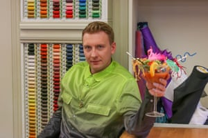 Joe Lycett goes back to the 80s in The Great British Sewing Bee.