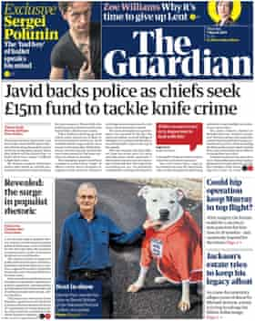Guardian front page, Thursday 7 March 2019