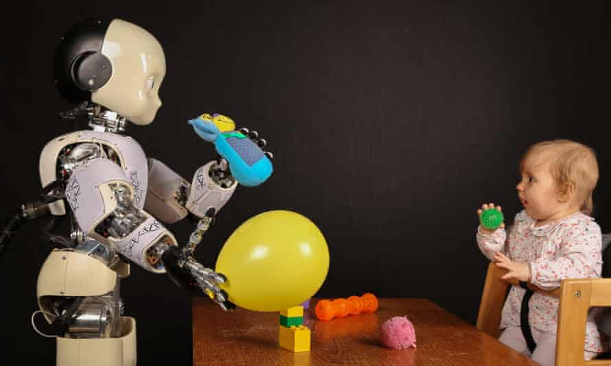 An iCub robot learning how to play from a child