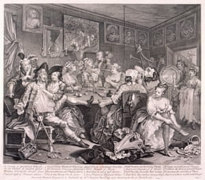 Demonising … an engraving for A Rake's Progress, 1735, by William Hogarth.