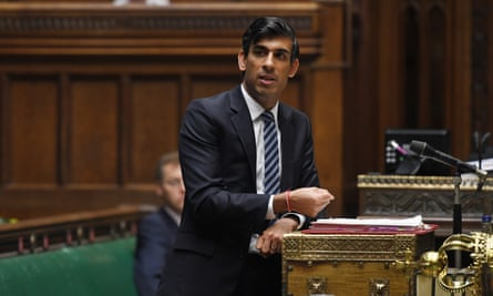 Rishi Sunak, the chancellor, speaking in the House of Commons.