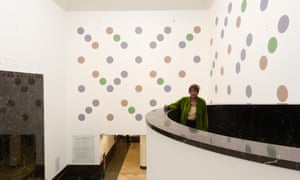 Bridget Riley unveils Messengers at the National Gallery.