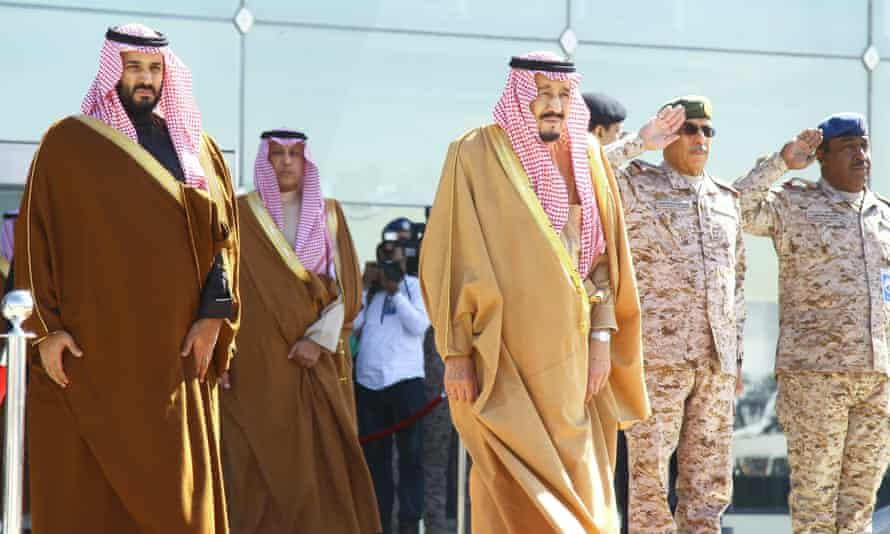 Mohammed bin Salman and his father, King Salman attend a ceremony in Riyadh. Some Middle East writers say suggestions of a rift have been overblown.