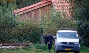 Police at the farmhouse in a remote area of Drenthe province in the Netherlands.