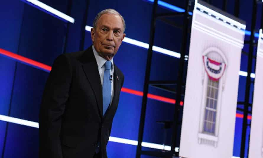 Mike Bloomberg arrives for the ninth Democratic primary debate in Las Vegas, Nevada, on 19 February.