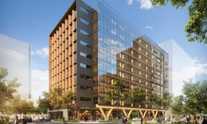 5 King St in Brisbane, the world's tallest timber office building.