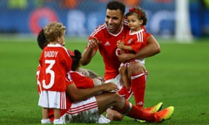 Neil Taylor and Hal Robson-Kanu of Wales